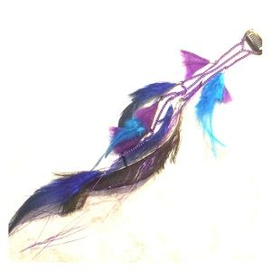 Real feather clip on hair extension